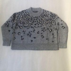 Rag & Bone leopard/gray wool sweater. Size small.